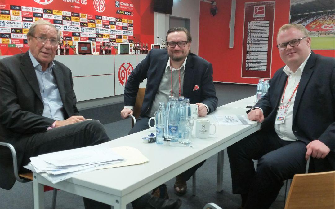 Gespräche beim 1. FSV Mainz 05 über Zusammenarbeit mit Kick for Help